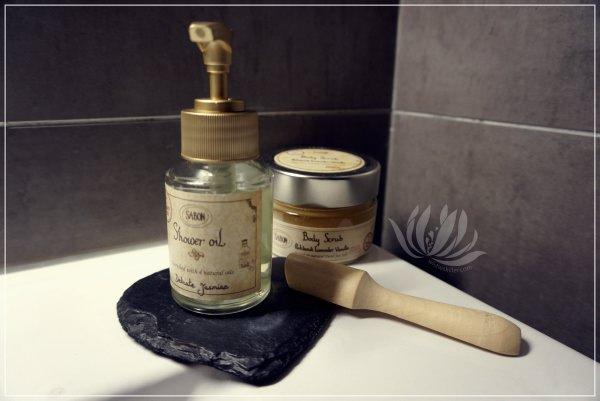 身體保養|SABON沐浴系列-沐浴油 身體磨砂膏 @林飛比。玩美誌