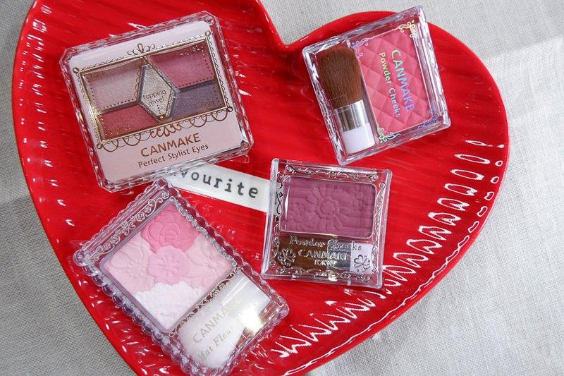日本必買藥妝:CANMAKE。腮紅、眼影盤3+1分享 @林飛比。玩美誌